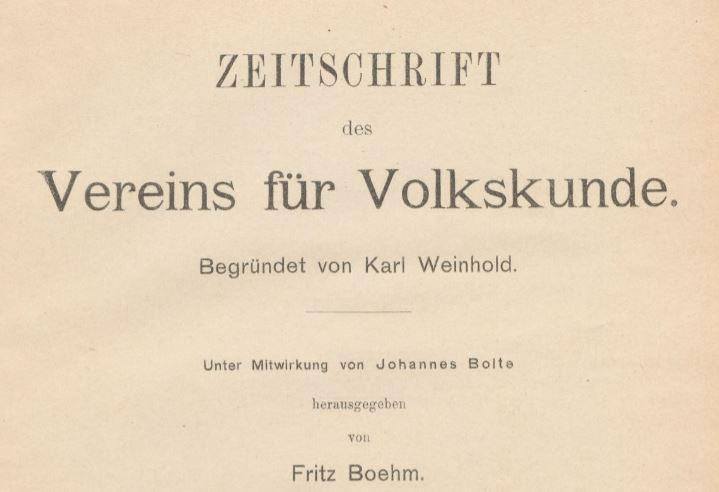Zeitschrift für Volkskunde2